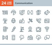 Communication - line vector icons