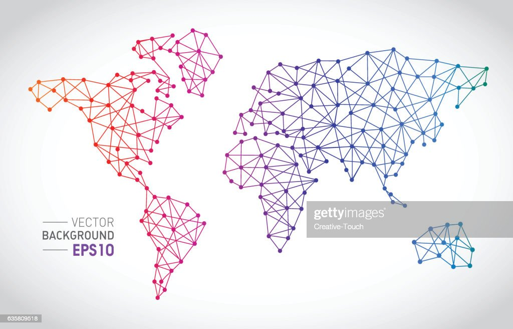 Communication lines with world map concept vector art getty images communication lines with world map concept vector art gumiabroncs Choice Image