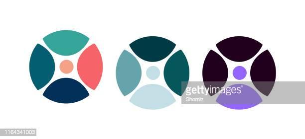 通信ロゴベクトルアイコン - 元素記号点のイラスト素材/クリップアート素材/マンガ素材/アイコン素材