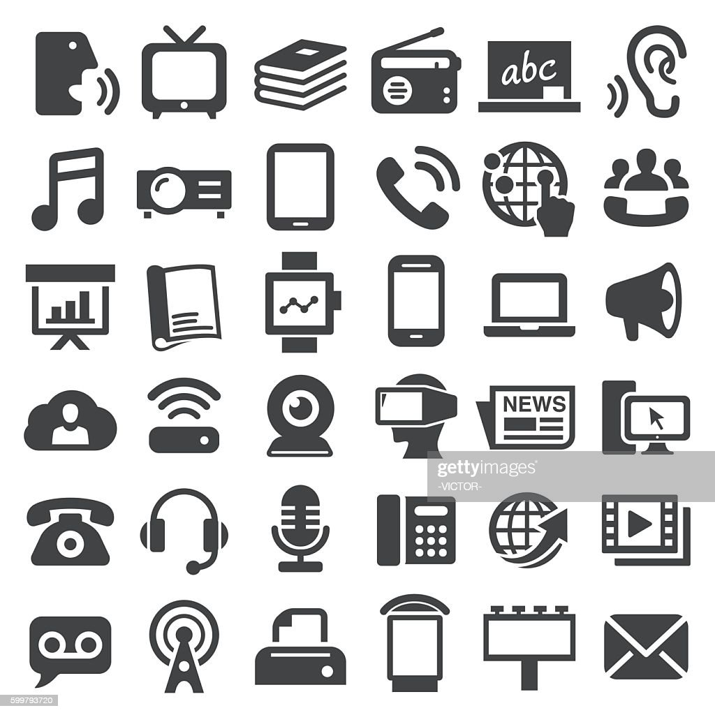Communication Media Icons - Big Series