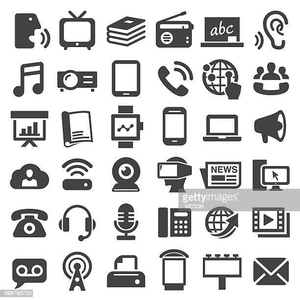 communication media icons - big series - answering machine stock illustrations, clip art, cartoons, & icons