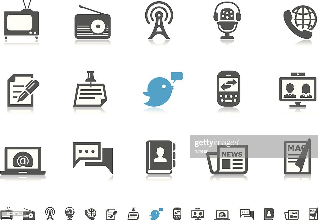 Communication & Media icons | Pictoria series