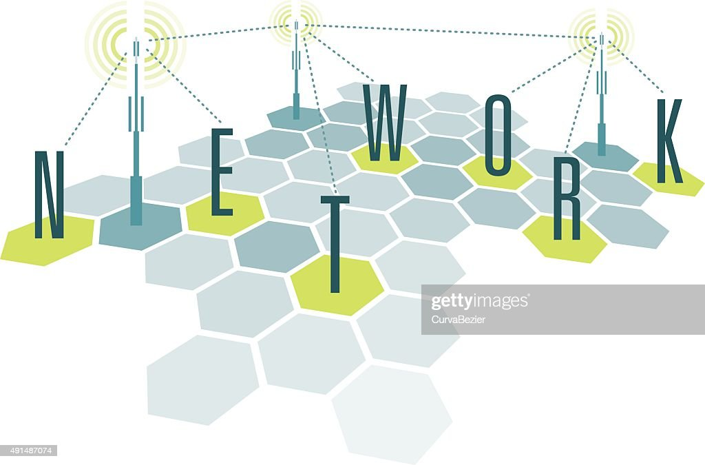 Communication network cells with letters
