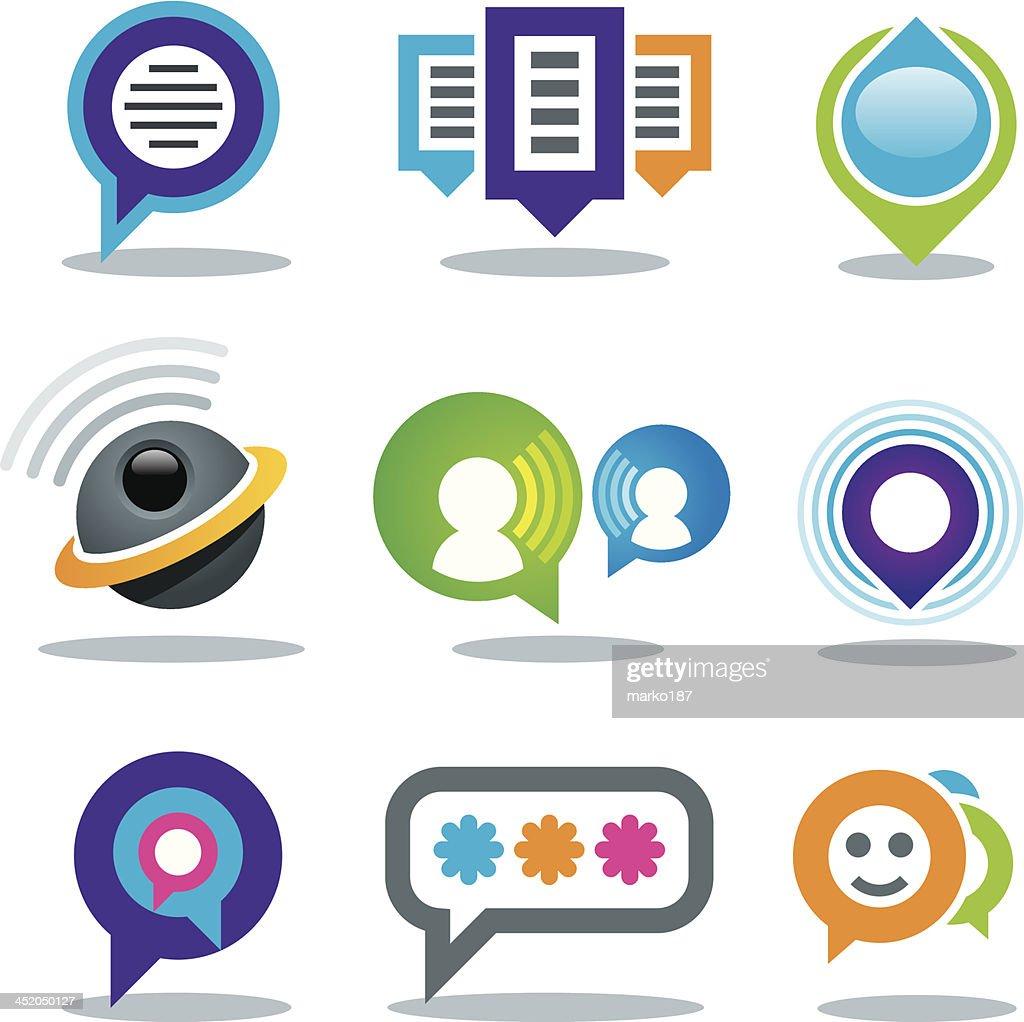 Communication of social people in world logo community media