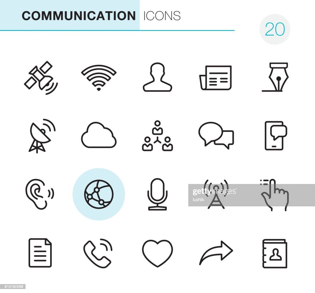 Communication - Pixel Perfect icons : stock illustration