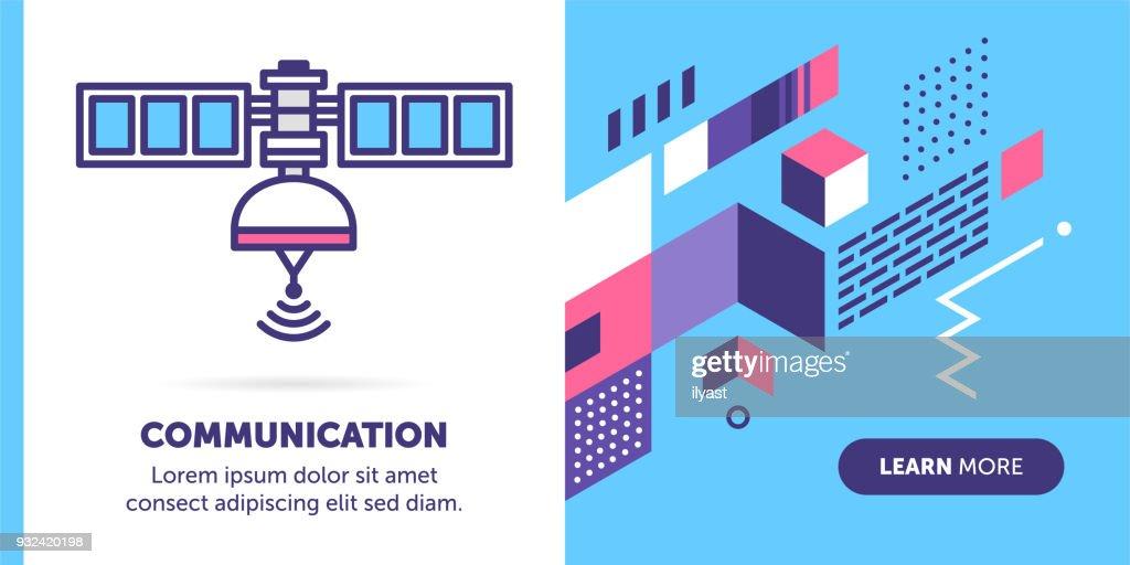 Communication Satellite Banner