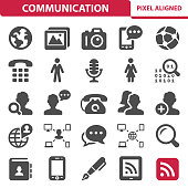 Communication & Social Media Icons
