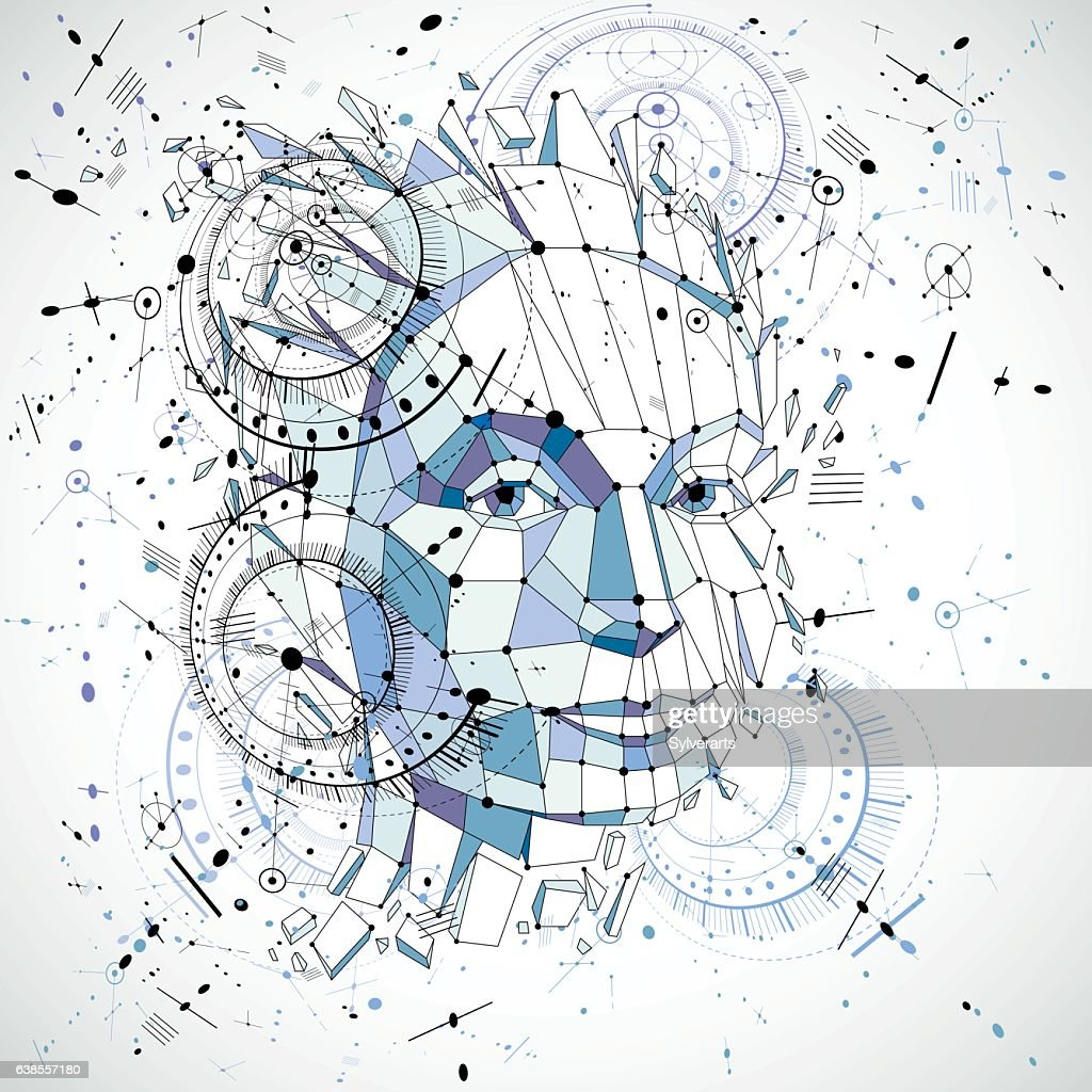Communication technology 3d vector background