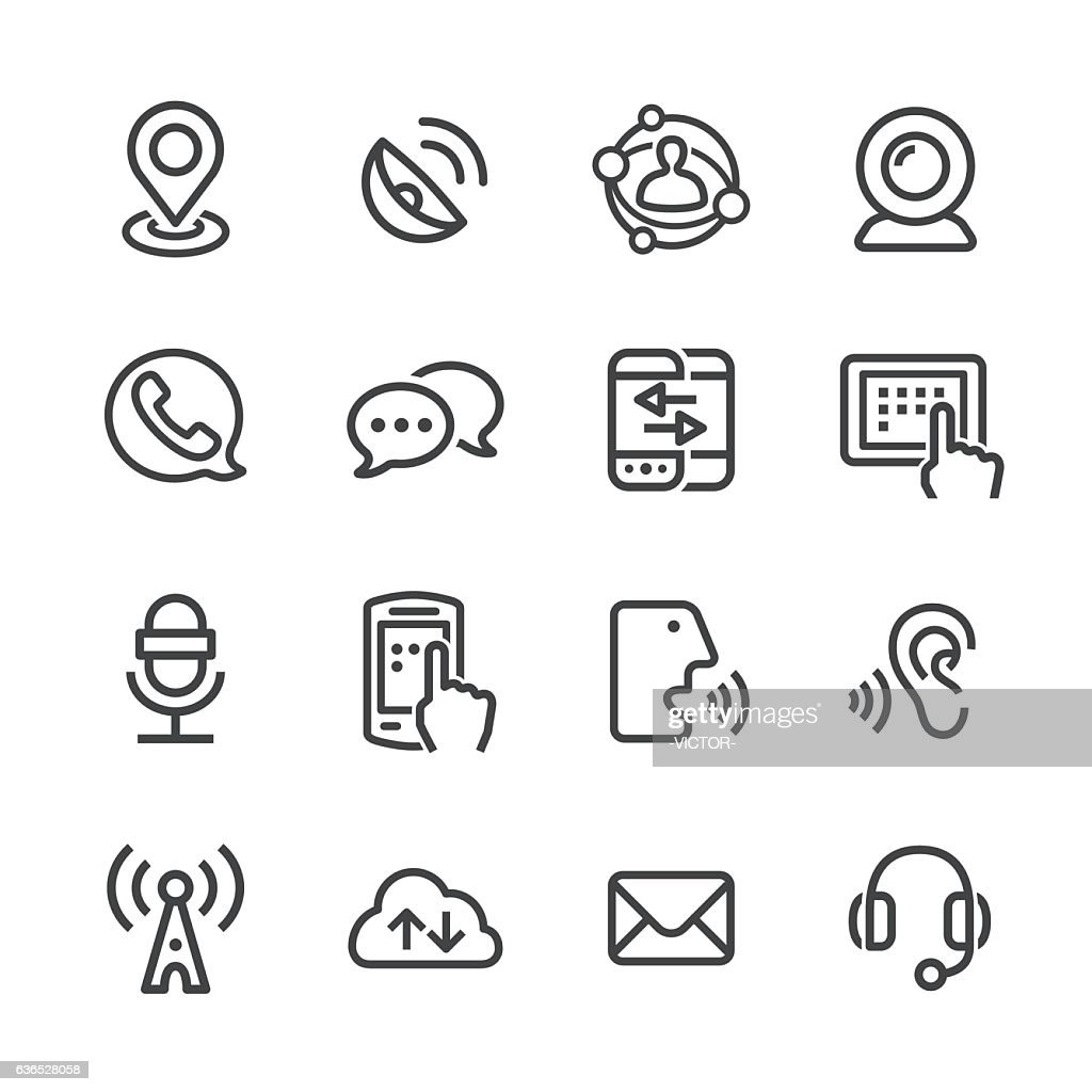 Communication Technology Icons - Line Series