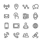 Communication Technology Icons Set - Line Series