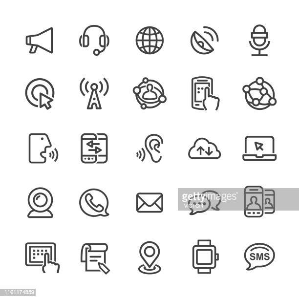 communication technology icons - smart line series - webcam media apparaat stock illustrations