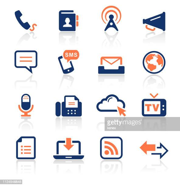 Communication Two Color Icons Set