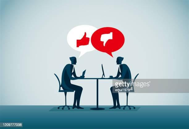 communication - arguing stock illustrations