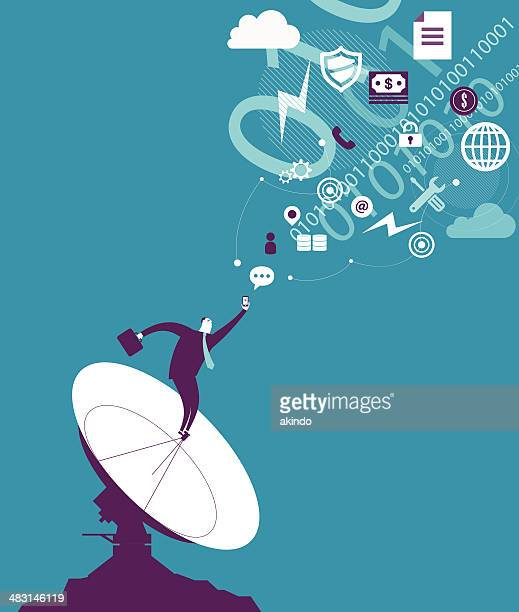 communication - receiving stock illustrations, clip art, cartoons, & icons