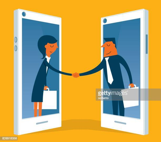 communication - video conference stock illustrations