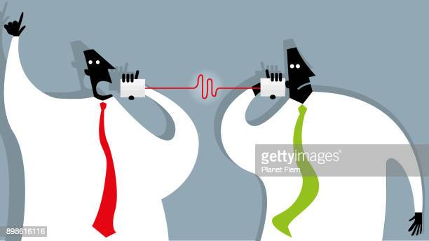 communication - communication problems stock illustrations