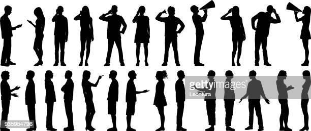 kommunikation  - megafon stock-grafiken, -clipart, -cartoons und -symbole