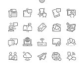 Communication Well-crafted Pixel Perfect Vector Thin Line Icons 30 2x Grid for Web Graphics and Apps. Simple Minimal Pictogram