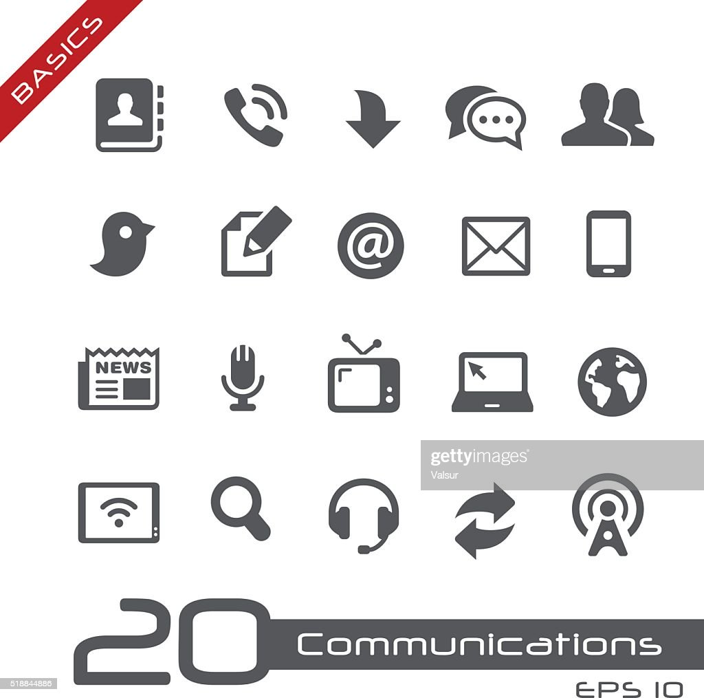 Communications Icon Set - Basics