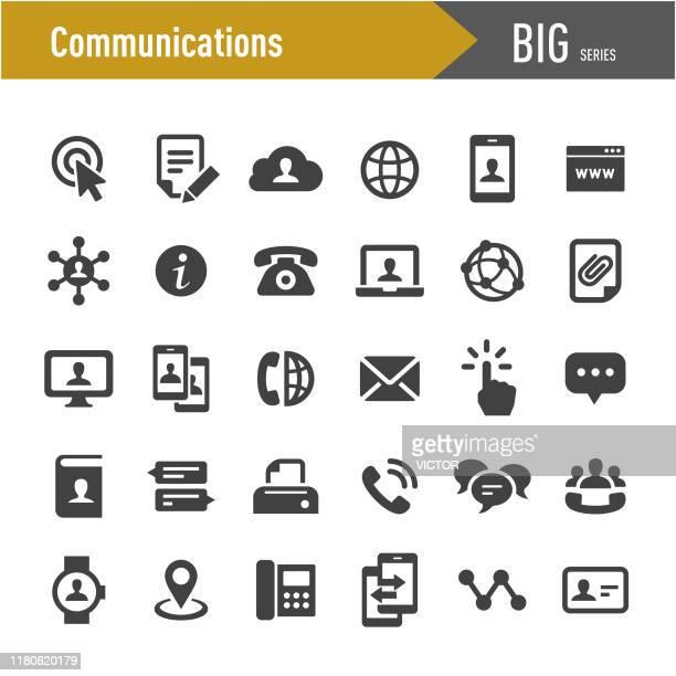 通信アイコン - ビッグシリーズ - 電話を使う点のイラスト素材/クリップアート素材/マンガ素材/アイコン素材