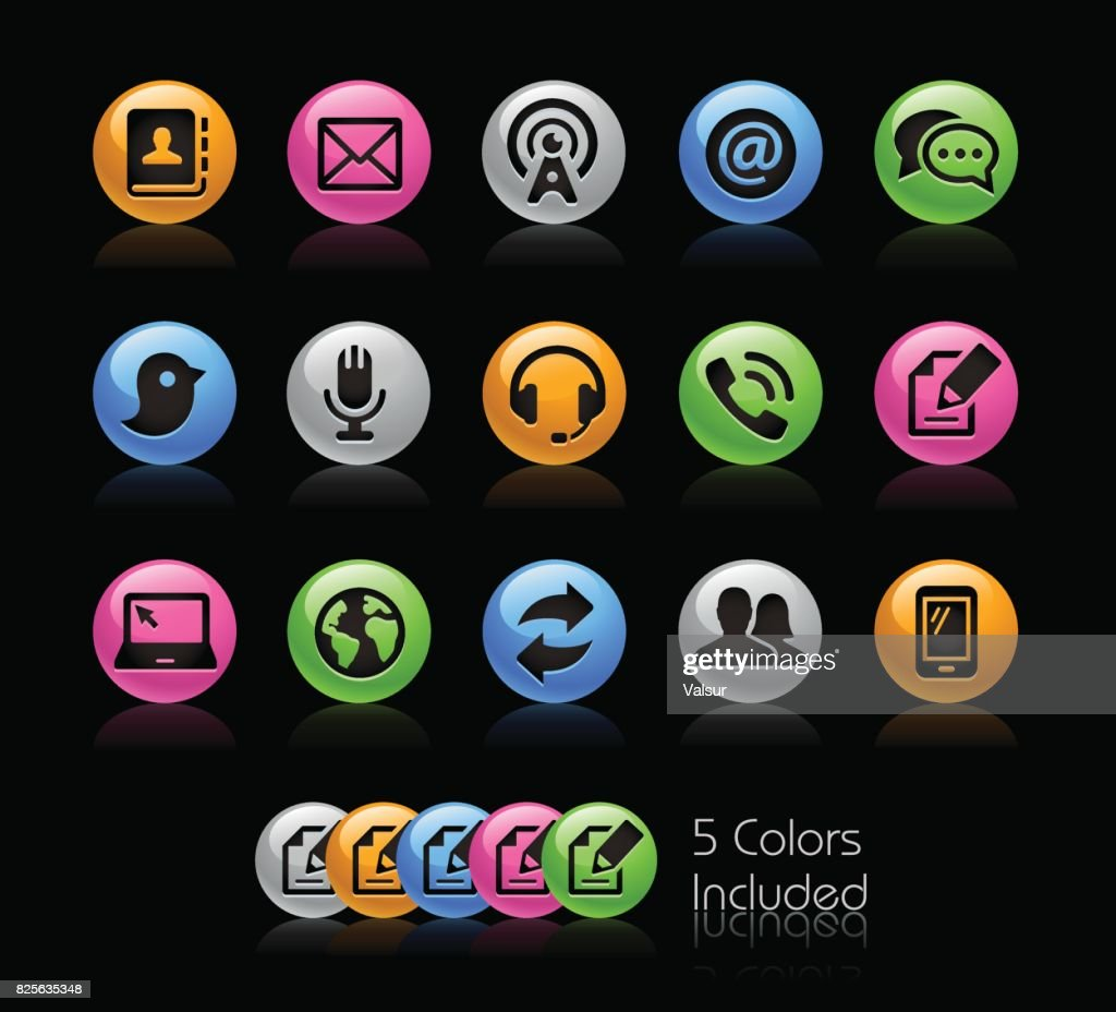 Communications Icons // Gelcolor Series