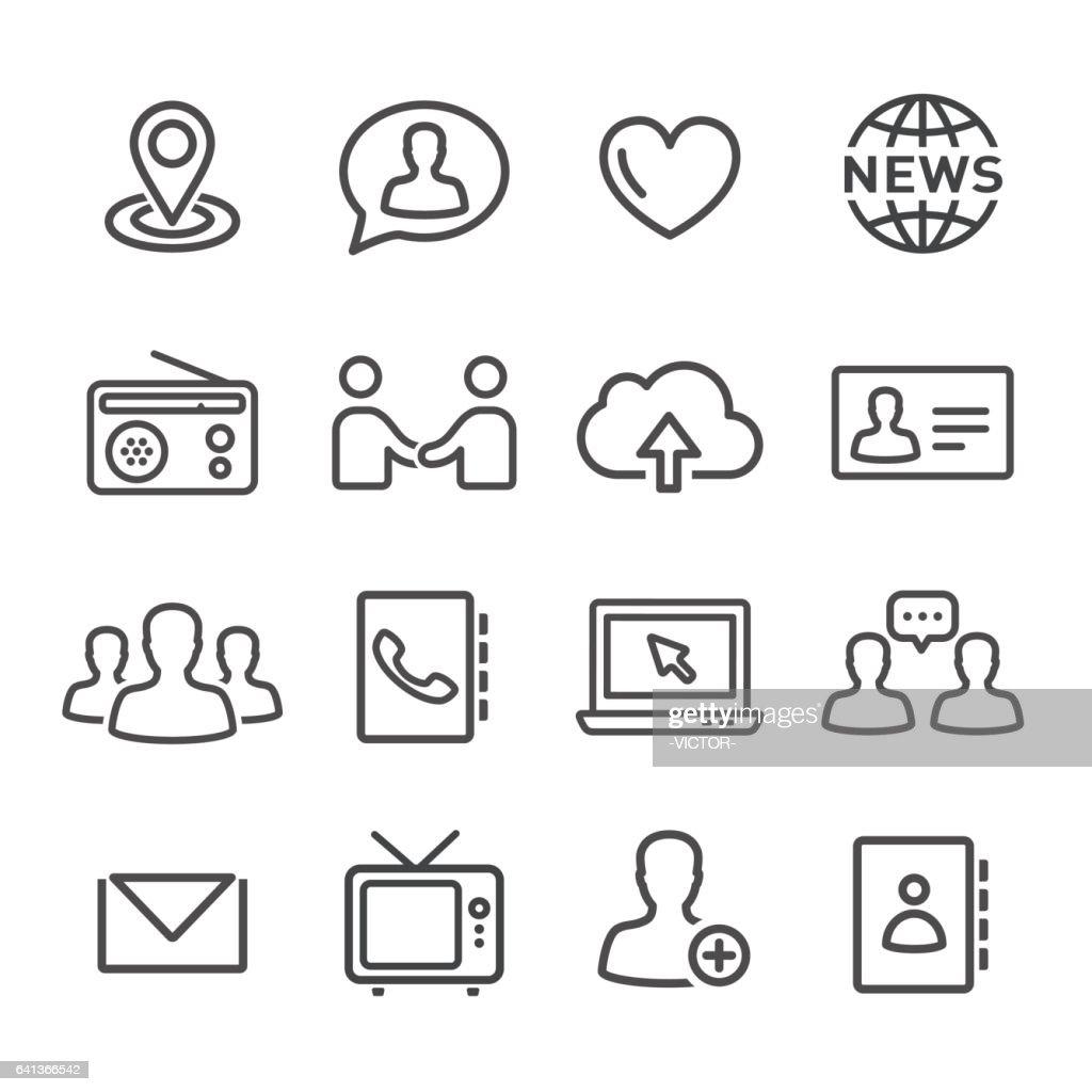 Communications Icons Set - Line Series