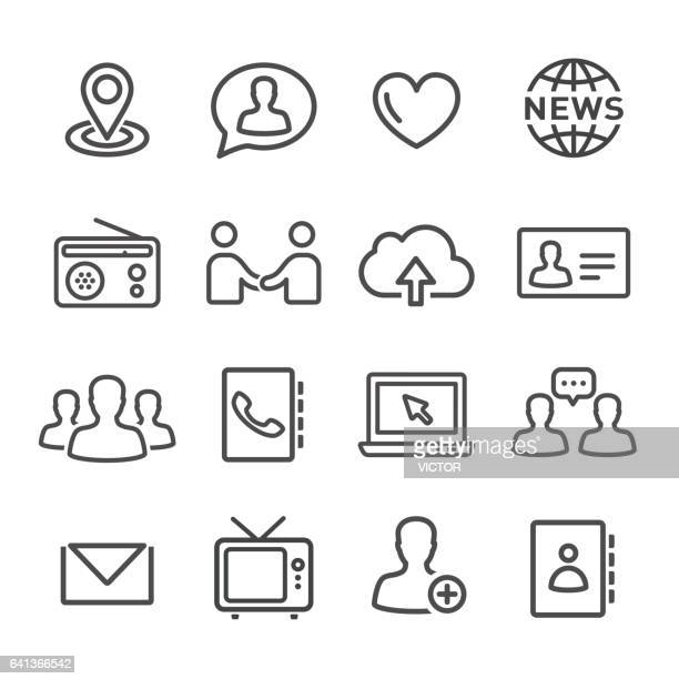Communications Icons Set - Line Series