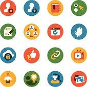 Communications & Social Media Icon Set