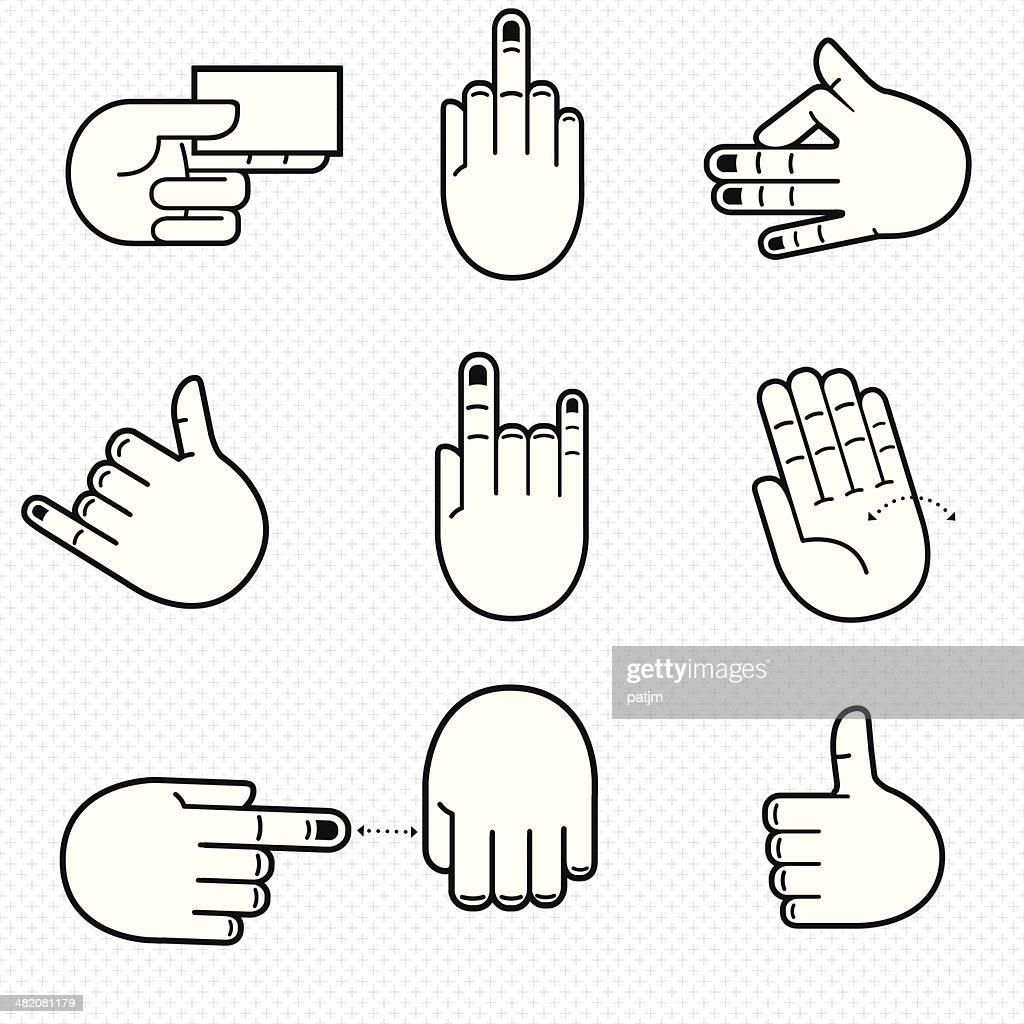 Communicative Hands- Line Art