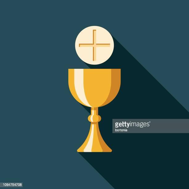 communion christian icon - communion stock illustrations