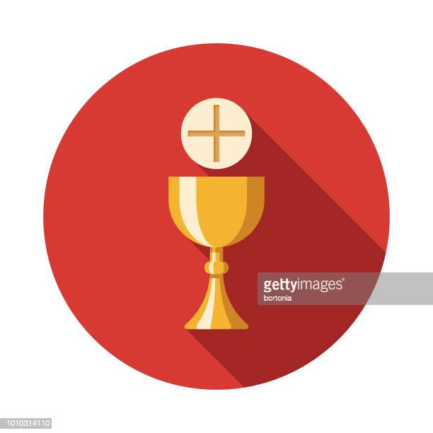 communion flat design italy icon - religious mass stock illustrations