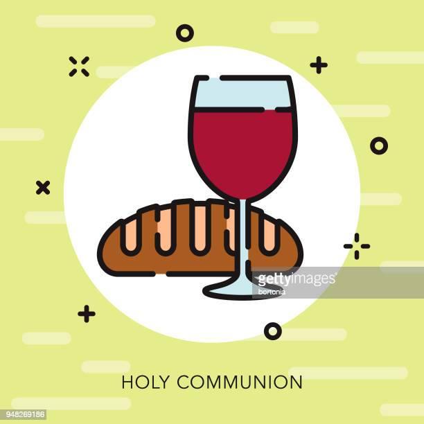 communion open outline easter icon - communion stock illustrations