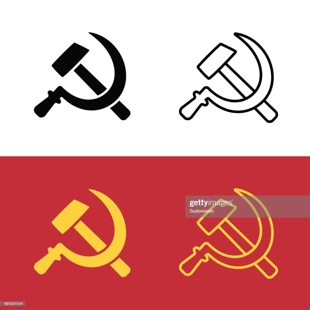 Communist hammer and sickle symbol