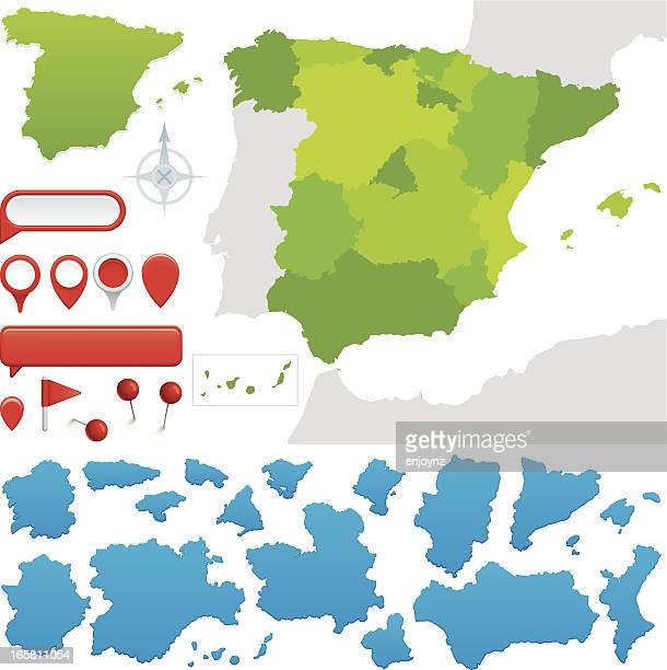 communities of spain - comunidad autonoma de valencia stock illustrations