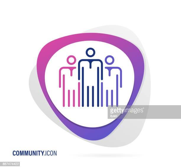 community icon - sociology stock illustrations, clip art, cartoons, & icons