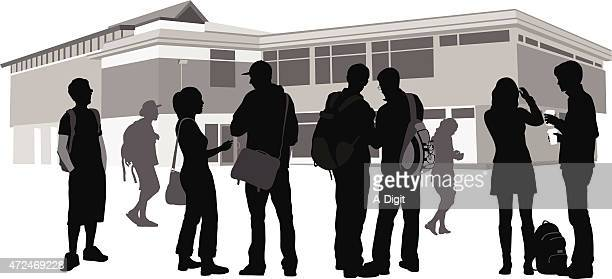 community strenght - high school student stock illustrations, clip art, cartoons, & icons