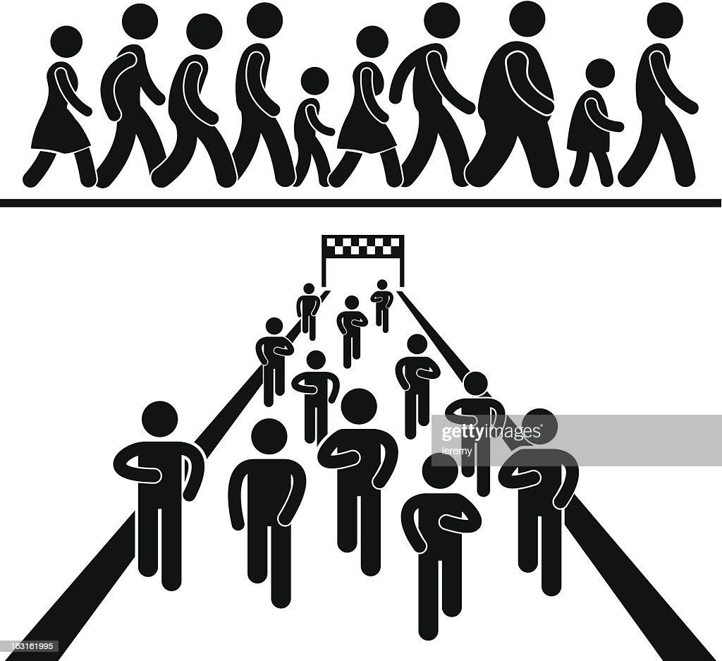 Community Walk and Run Pictogram