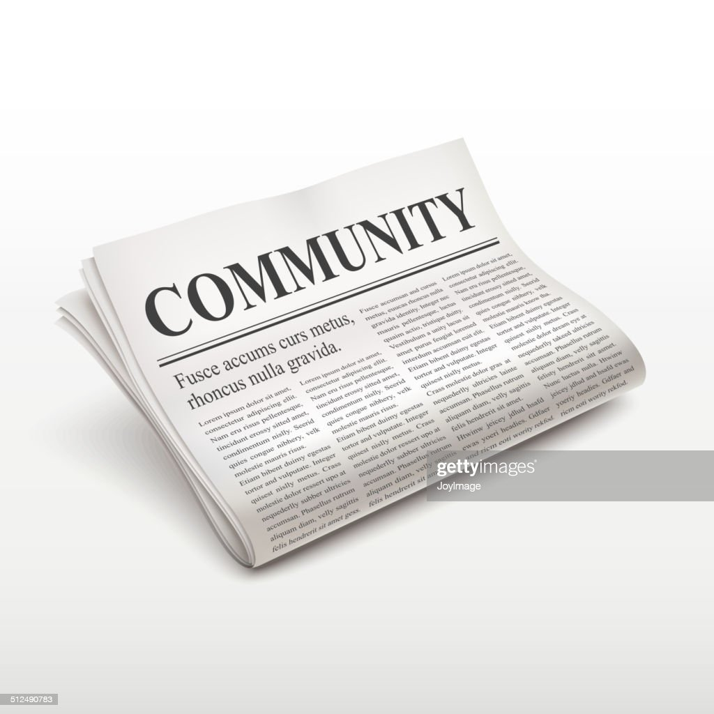 community word on newspaper