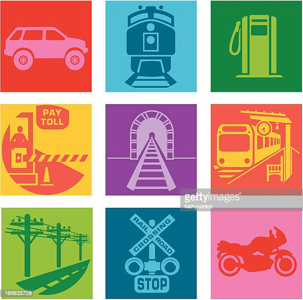 commute - crossing sign stock illustrations, clip art, cartoons, & icons