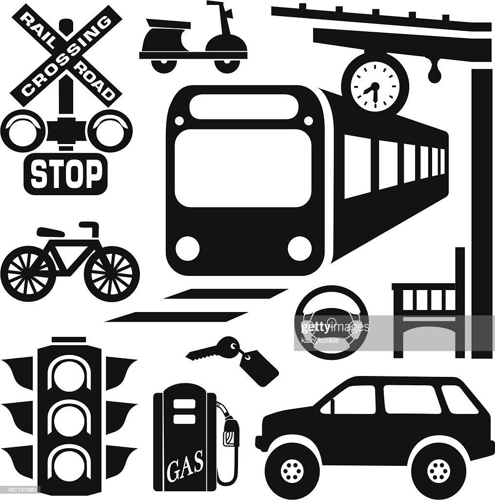 commuting design elements : stock illustration