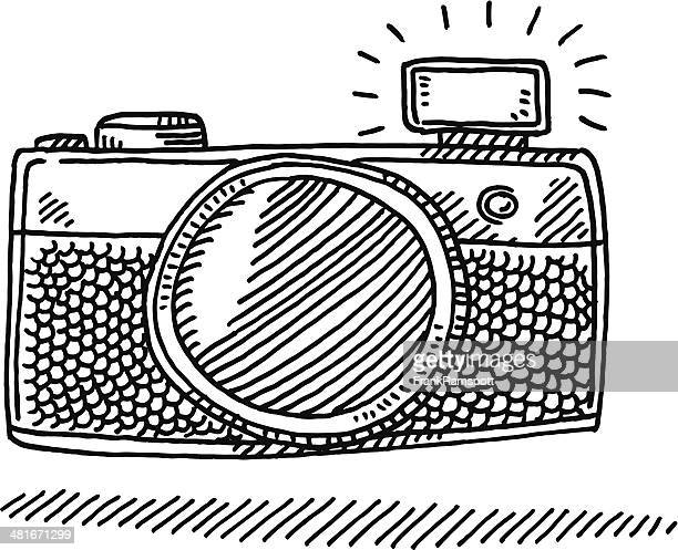 Compact Camera Flash Drawing