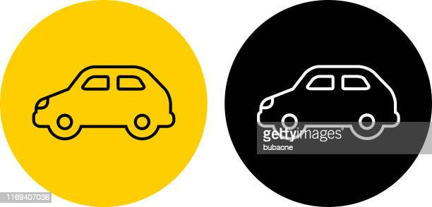 compact car icon - compact car stock illustrations, clip art, cartoons, & icons