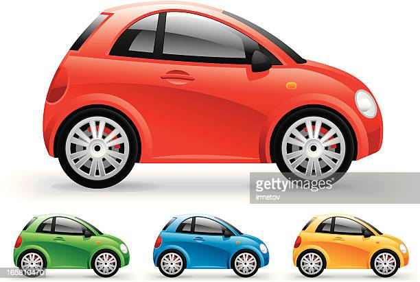 compact car - compact car stock illustrations, clip art, cartoons, & icons