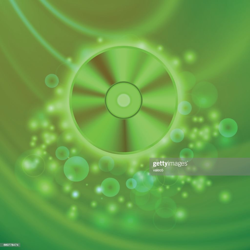 Compact Disc Isolated on Green Waves