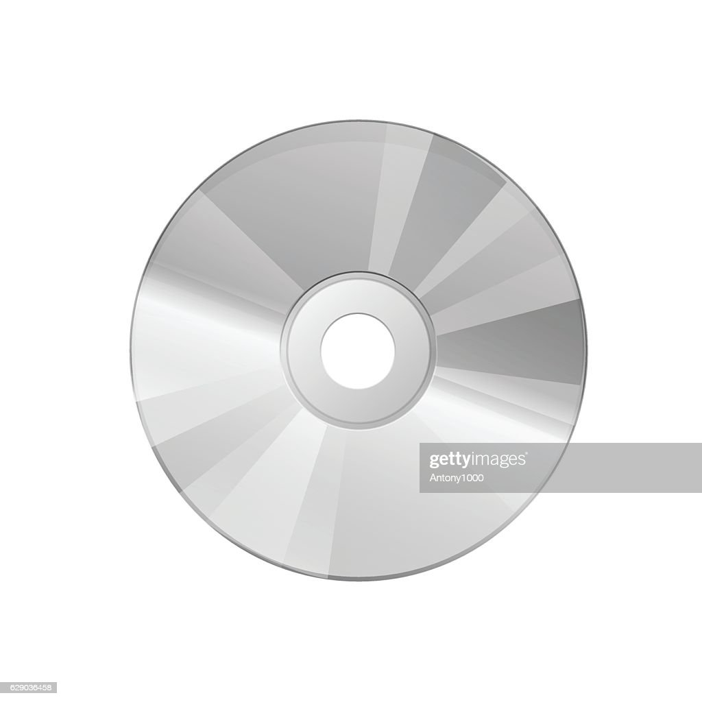 Compact disc on a white