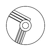 compact disc with lines  vector illustratio