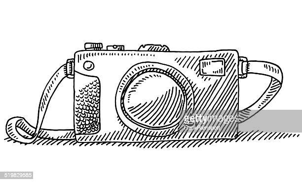Compact Travel Camera Drawing