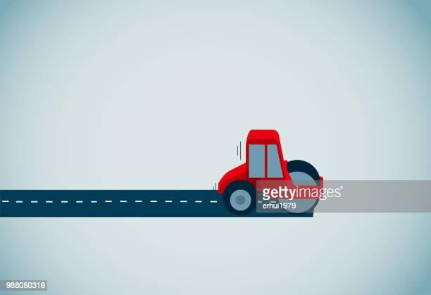 compactor - road stock illustrations