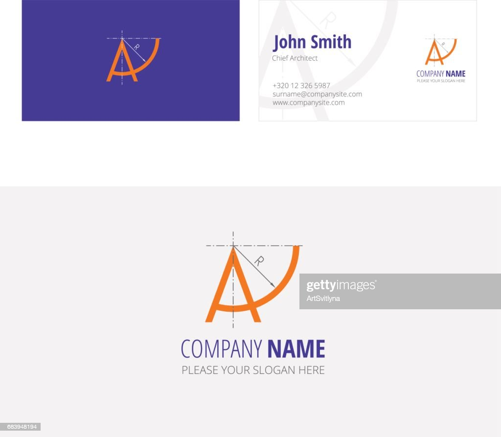 A company architecture construction  corporate business card