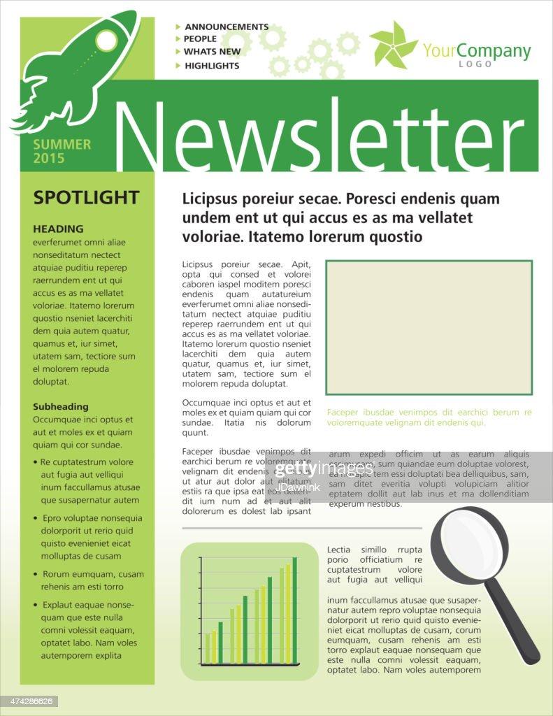 company business green newsletter design flyer template vector art